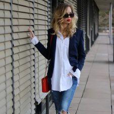 La blusa o camisa blanca, nunca pasará de moda